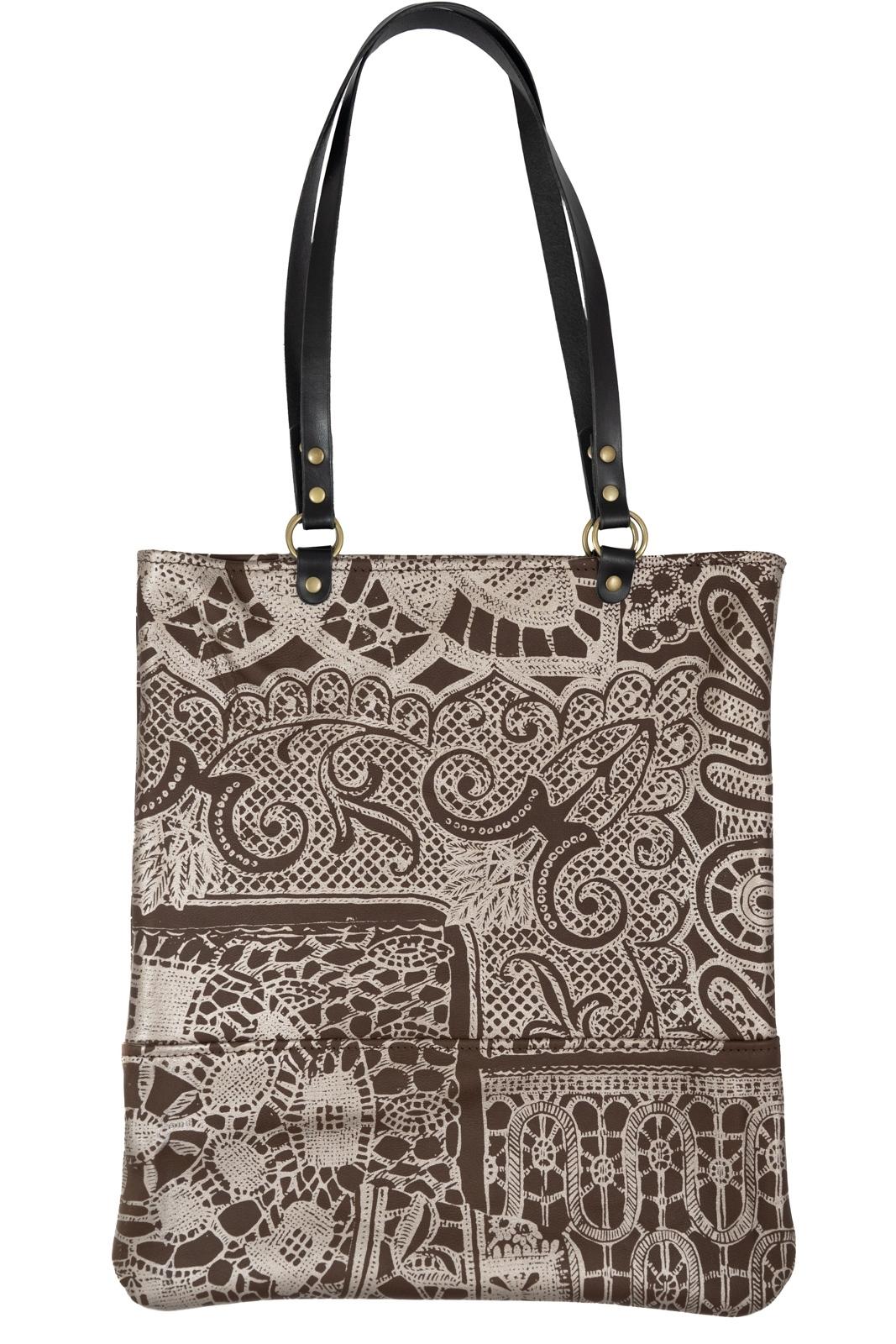 Lena Print Tote Bag - In Stock