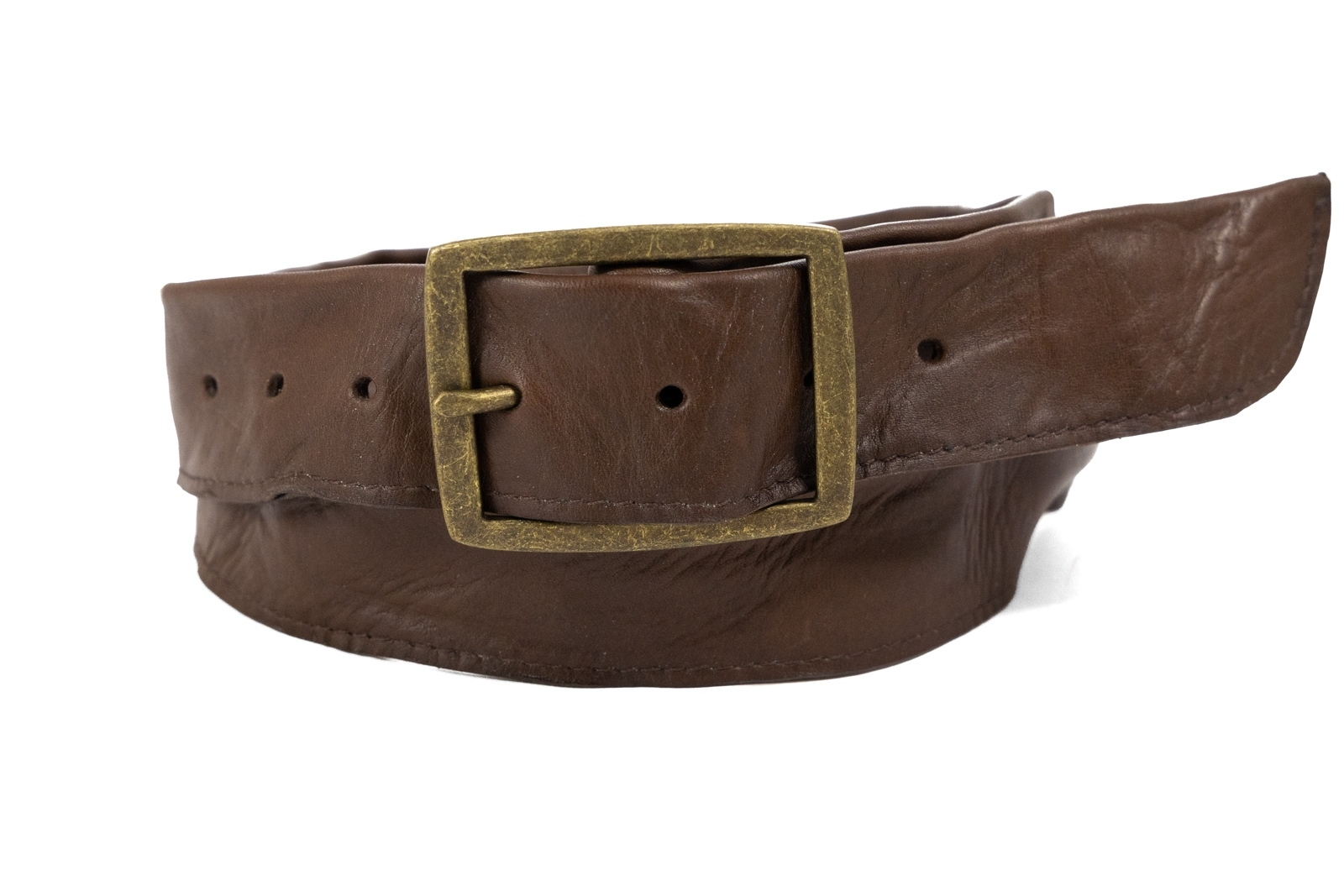 Tube Leather Belt - In Stock