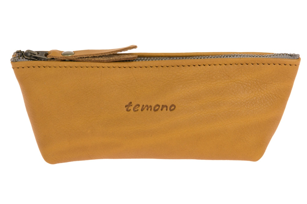 Cosme leather pouch - Mustard