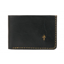 Te. warun sw kangaroo leather mens wallet - black and tan