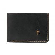 Te. warun sw kangaroo leather mens wallet - black and tan