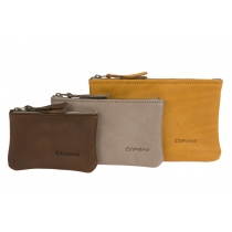 Pouch - Brown, grey and mustard