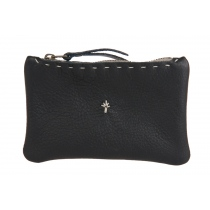 Te. ket leather pouch - black