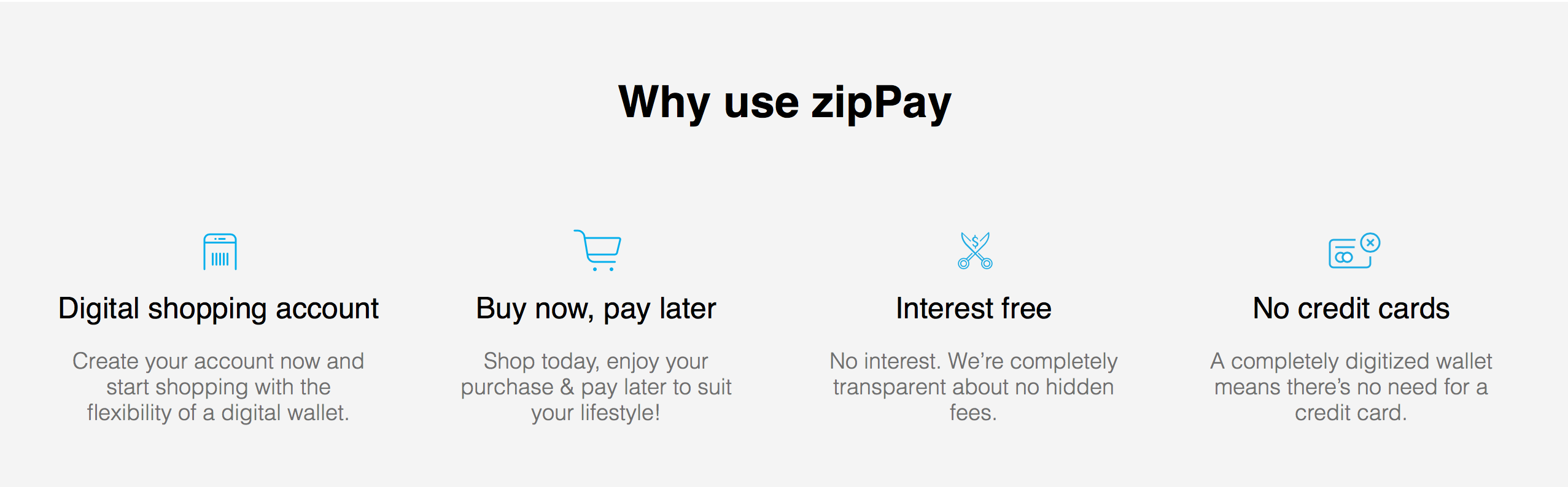 Digital shopping account. Buy now, pay later. Interest free. No credit cards.