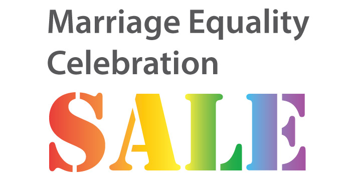 marriage equality celebration sale